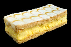 Vanilla custard slice. Royalty Free Stock Photography
