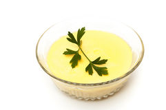 Vanilla custard Stock Photo