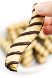 Vanilla e chocolate cookies Royalty Free Stock Photography