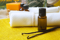 Vanilla essential oil Royalty Free Stock Photography