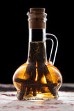 Vanilla extract. In a bottle Stock Images