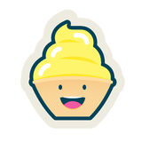 Vanilla Flavor. A sweet ice-cream vanilla flavored; with all the kawaii style Stock Photo