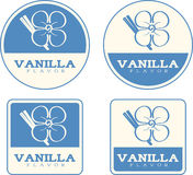 Vanilla Flavor Food Labels Royalty Free Stock Photo