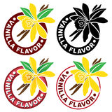 Vanilla Flavor Seal / Mark. In four variations Stock Photos
