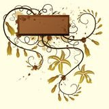 Vanilla. Floral background. royalty free illustration
