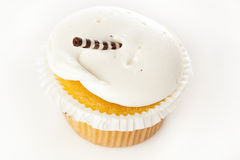 Vanilla Frosted Cupcake Stock Image