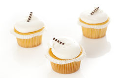 Vanilla Frosted Cupcake Royalty Free Stock Photos