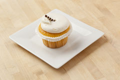 Vanilla Frosted Cupcake Royalty Free Stock Photo