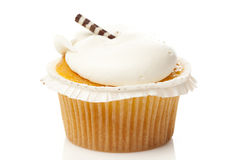 Vanilla Frosted Cupcake Stock Photography