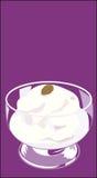 Vanilla ice cream stock illustration