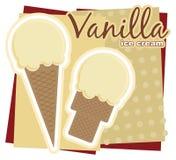 Vanilla Ice Cream. Illustration of a vanilla ice cream sign Royalty Free Stock Photos