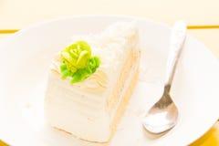 Vanilla ice cream with banana and chocolate. Sauce Royalty Free Stock Image