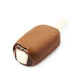 Vanilla ice cream bar on a stick Royalty Free Stock Images