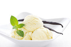 Vanilla ice cream Stock Image