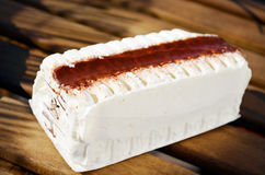 Vanilla ice cream cake Stock Image