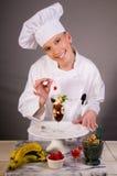 Vanilla Ice Cream With Chocolate Dessert Royalty Free Stock Photography
