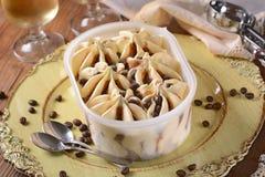 Vanilla ice cream and coffee Stock Images