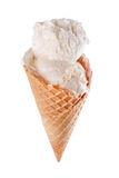 Vanilla ice cream cone Royalty Free Stock Image