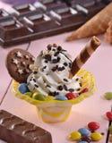 Vanilla ice cream cup Stock Images