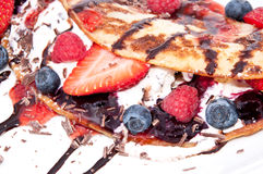 Vanilla Ice Cream with fresh berries Stock Images