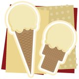 Vanilla Ice Cream Illustration Royalty Free Stock Photo