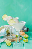Vanilla ice cream margarita floats Royalty Free Stock Image