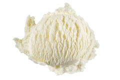 Vanilla ice cream. Scoop isolated on a white background with clipping path stock photo