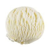Vanilla ice cream. Scoop isolated on a white background with clipping path royalty free stock photography