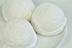 Vanilla Ice Cream,  scoops of ice cream, macro Royalty Free Stock Photography
