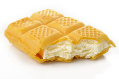 Vanilla ice cream wafers to bite Royalty Free Stock Image