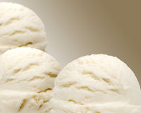 Vanilla ice creams Stock Images