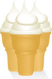 Vanilla ice creams Stock Photography