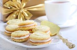 Vanilla kisses biscuits Stock Photos