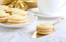 Vanilla kisses biscuits Stock Image