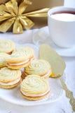 Vanilla kisses biscuits Stock Images