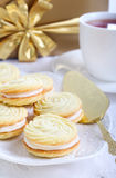 Vanilla kisses biscuits Royalty Free Stock Photography