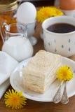 Vanilla layered cake Royalty Free Stock Photos