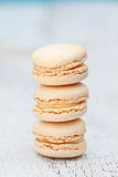 Vanilla Macarons Royalty Free Stock Photos