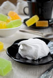 Vanilla marshmallow zephyr and fruit candies Stock Image