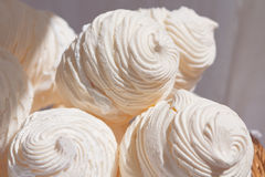 Vanilla meringue Royalty Free Stock Image