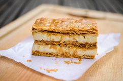 Vanilla millefeuilles Royalty Free Stock Image