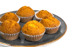 Vanilla mini muffins with chocolate topping Royalty Free Stock Photo