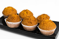 Vanilla mini muffins with chocolate topping Royalty Free Stock Image