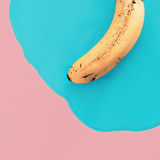 Vanilla minimal style. Exclusive Banana. fashion photos.  stock photos