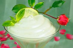 Vanilla mousse Royalty Free Stock Image