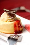 Vanilla mousse with whipped cream Royalty Free Stock Photo