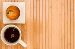Vanilla Muffin with a cup of coffee Stock Image