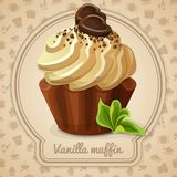 Vanilla muffin label Stock Image