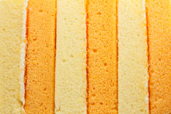 Vanilla and orange chiffon cake. Texture vanilla and orange chiffon cake Stock Images