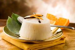 Vanilla Orange Pudding Stock Image